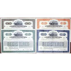 "Indianapolis Union Railway Co., 1936 ""Series B"" Specimen Bond Quartet"