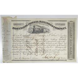 Northern Indiana Rail-Road Co. 1852 I/C Stock Certificate