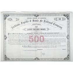 Atchison, Topeka and Santa Fe Railroad Co., 1877 Specimen Bond Rarity