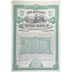 Atchison, Topeka and Santa Fe Railroad Co., 1887 Specimen Bond Rarity