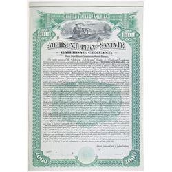 Atchison, Topeka and Santa Fe Railroad Co., 1889 Specimen Bond