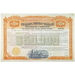 Atchison, Topeka and Santa Fe Railroad Co., 1892 Specimen Bond
