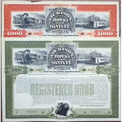 Atchison, Topeka and Santa Fe Railway Co., (1895 - Rare Reissued with New Terms in 1899 variety) Spe