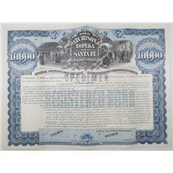 Atchison, Topeka and Santa Fe Railway Co., 1895 Specimen Bond