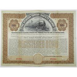 Atchison, Topeka and Santa Fe Railway Co., Eastern Oklahoma Division. 1903 Specimen Bond