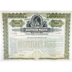 Southern Pacific Co. 1899 Specimen Bond