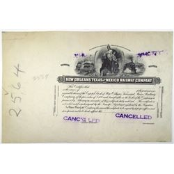 New Orleans, Texas and Mexico Railway Co., 1920-40's Progress Proof Stock Certificate
