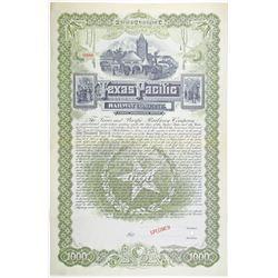 Texas and Pacific Railway Company, Trustee's Certificate. 1888 Specimen Bond