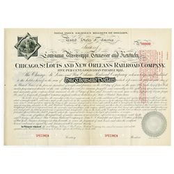 Chicago, St. Louis and New Orleans Railroad Co., 1881 (Reissued in 1897) Specimen Bond
