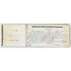 Baltimore & Ohio Railroad Script Certificates, ca.1890s, Group of 36