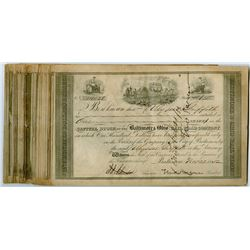 Group of 50 Early Baltimore & Ohio Railroad Share Certificates