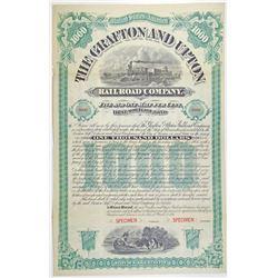 Grafton and Upton Railroad Co. 1888 Specimen Bond Rarity