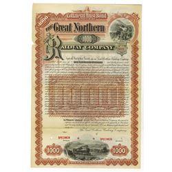 Great Northern Railway Co., 1892 Specimen Bond
