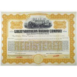 Great Northern Railway Co., 1921 Specimen Bond Rarity