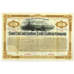 Saint Paul and Northern Pacific Railway Co., 1883 Specimen Bond