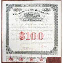 Harrison County, Mississippi 1882, Gulf & Ship Island Railroad Co. I/C Bond