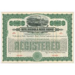 Butte, Anaconda & Pacific Railway Co., 1914 Specimen Bond