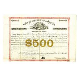 State of Nebraska, County of Butler 1879 I/U Railroad Bond