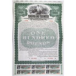 Tonopah and Tidewater Railroad Co. 1907 Specimen Bond