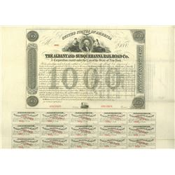 Albany and Susquehanna Railroad Co., 1863 Specimen Bond Rarity Error.