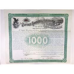 Buffalo, Hamburg & Aurora Railway Co., 1900 I/U Bond.