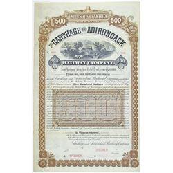 Carthage and Adirondack Railway Co. 1883 Specimen Bond Rarity