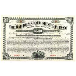 Railroad Equipment Co., 1889 Specimen Bond Rarity