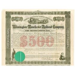 Wilmington and Manchester Railroad Co., 1866 I/U Bond