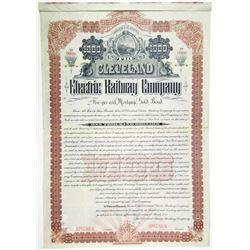 Cleveland Electric Railway Co., 1893 Specimen Bond Rarity