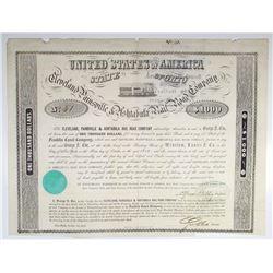 Cleveland, Painsville & Ashtabula Rail Road Co. 1852 I/C Bond