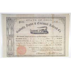 Sandusky, Dayton & Cincinnati Railroad Co. 1859 I/U Coupon Bond