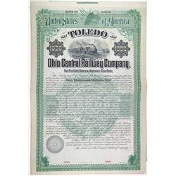 Toledo & Ohio Central Railway Co. 1894 Specimen Bond