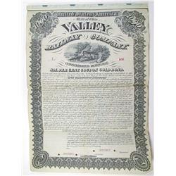 Valley Railway Co. 1881 Specimen Bond Rarity