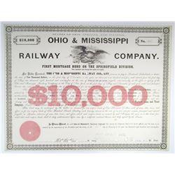 Ohio & Mississippi Railway Co., 1875 I/C Bond