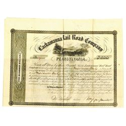 Lackawanna Rail Road Co. 1855 I/U Bond Signed by Morris Ketchum Jesup