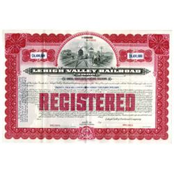 Lehigh Valley Railroad Co. 1903 (Reissued in 1949 for $24,400,000) Specimen Bond