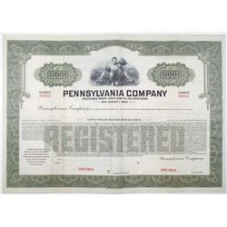 Pennsylvania Co. 1935 Specimen Bond Rarity