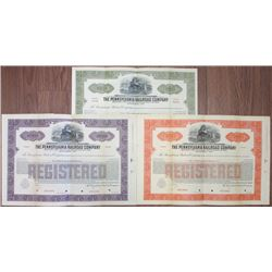 Pennsylvania Railroad Co., 1924 Specimen Bond Trio