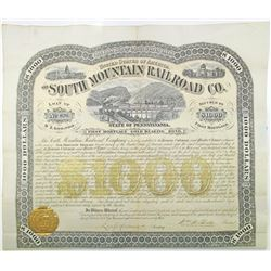South Mountain Railroad Co. 1873 I/U Bond