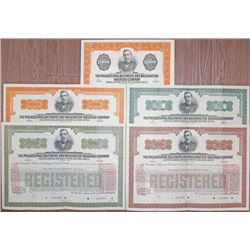 Philadelphia, Baltimore and Washington Railroad Co., 1920 Issue (Reissued in 1933) Specimen Bond Qui