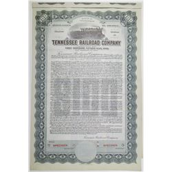 Tennessee Railroad Company (Organized 1918). 1937 Specimen Bond