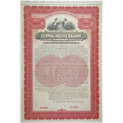 Central Pacific Railway Co. 1904 Specimen Bond