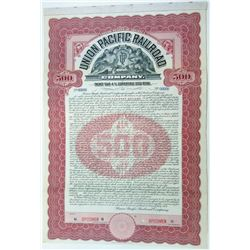 Union Pacific Railroad Co., 1907 Specimen Bond