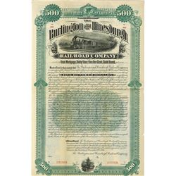 Burlington and Hinesburgh Railroad Co., 1984 Specimen Bond Rarity