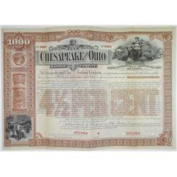 Chesapeake and Ohio Railway Co. 1892 Specimen Bond