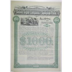Union Depot Co. of Spokane Falls 1889 Specimen Bond