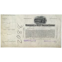Monongahela Valley Traction Co., 1930-50's Progress Proof Stock Certificate