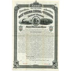 West Virginia Central and Pittsburg Railway Co., 1881 Specimen Bond