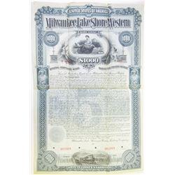 Milwaukee, Lake Shore and Western Railway Co., 1893 Specimen Bond