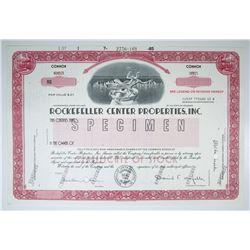 Rockefeller Center Properties, Inc. 1985 Specimen Stock Certificate